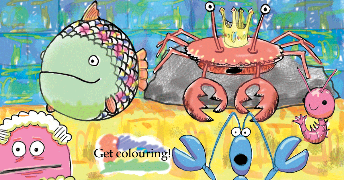 Get colouring with the Greedy Fish
